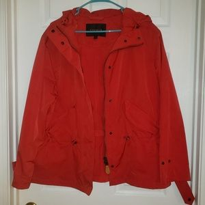 Red Authentic Coach Windbreaker